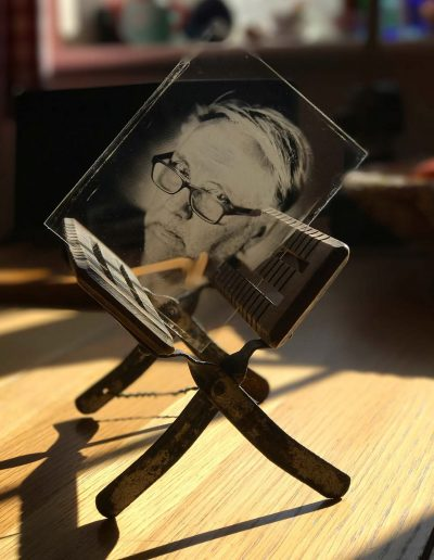 Self Portrait Glass Plate - Wetplate Collodion