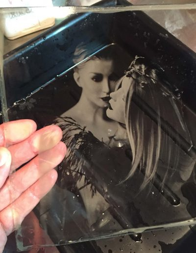 The Kiss - Studio - Wet plate collodion_